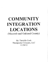 Community Integration Locations