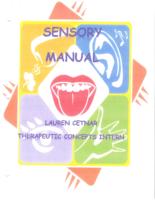 Sensory Manual